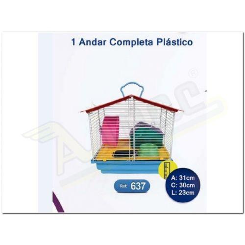 Imagem do produto GAIOLA P/HAMSTER 1AND.COMP.PLAST. - 637